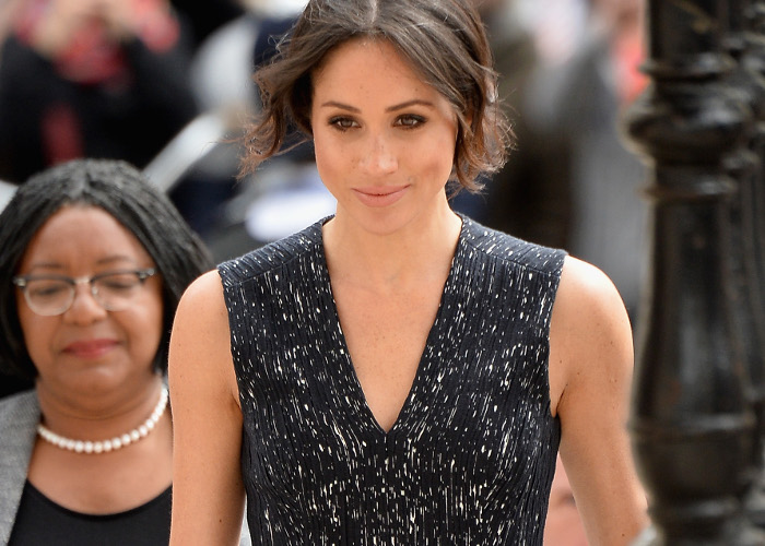 Meghan Markle Dons Another Gorgeous Black Dress