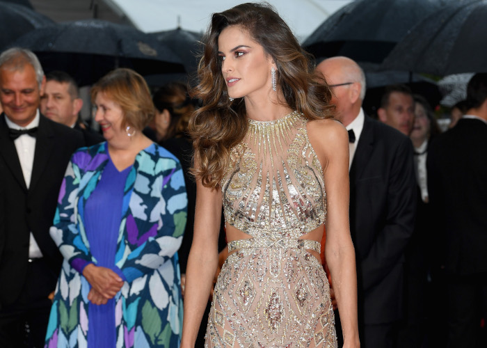 Izabel Goulart Turns Heads in Cannes in Revealing Dress