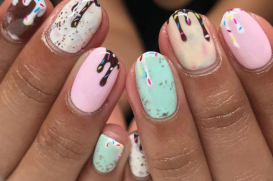 Summer Nail Ideas ice cream nails