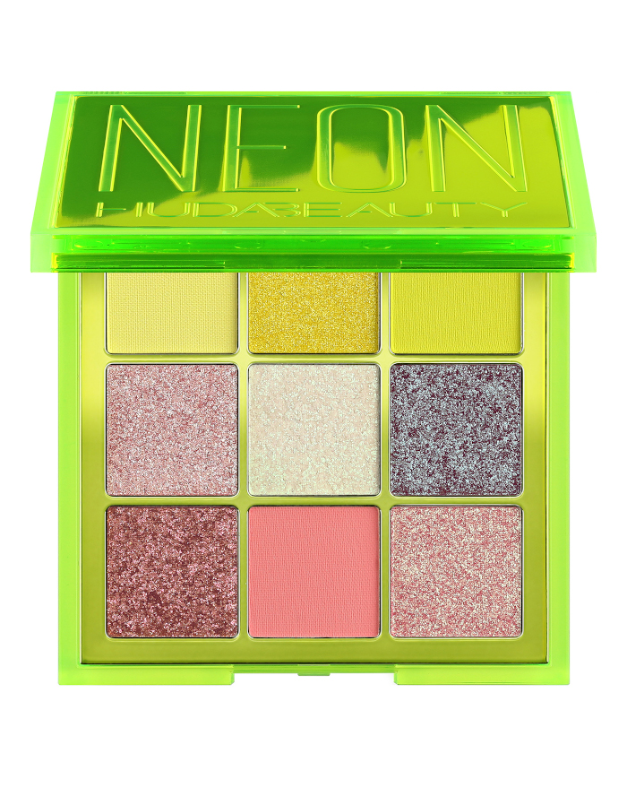 best neon makeup products - huda beauty neon green obsessions