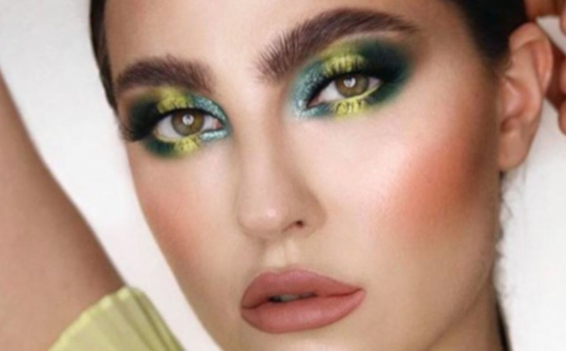 emerald green makeup looks