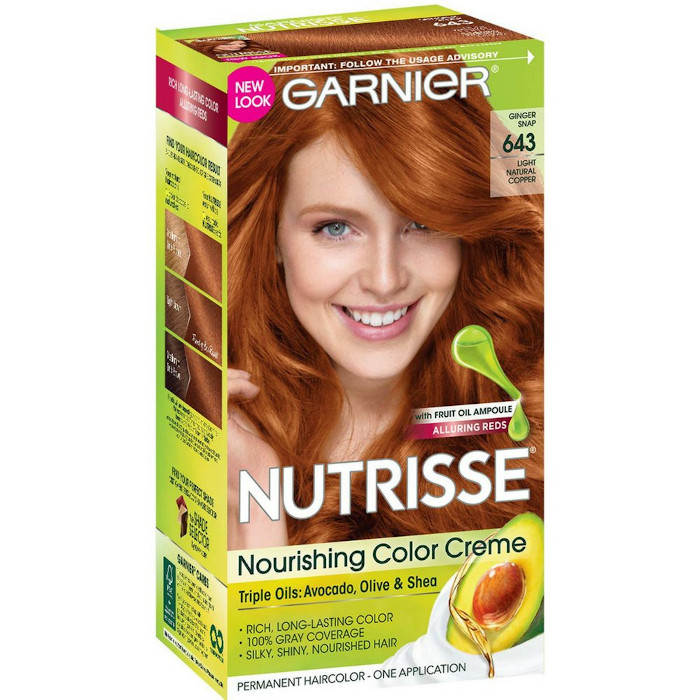 the best dyes for copper hair - nutrisse nourishing color creme 643 light natural copper 1 ea pack of 4