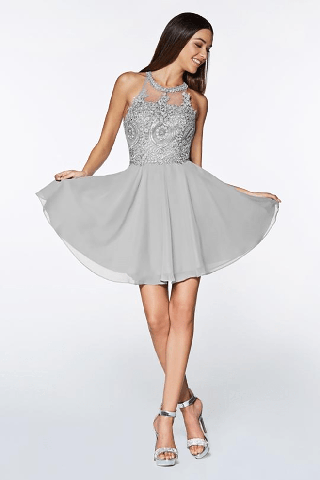Designer Knee-length A-Line Bridesmaid Dresses with Halter, Sweetheart and V-Necklines