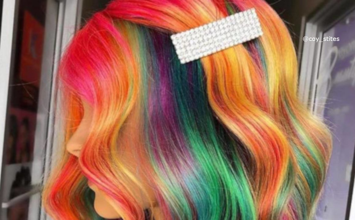 Bold Rainbow Hair Colors In Honor Of Pride Month