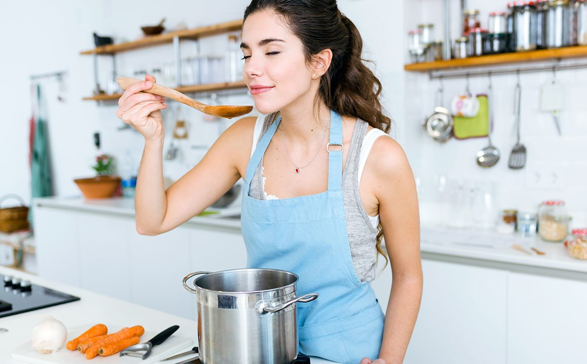 how-your-diet-can-effect-your-hair-woman-making-dinner