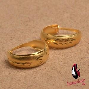 Ethiopian Women Earrings Gold Color African Jewelry Middle East Arab Jewellery Earring Stud Wedding Party Gifts #J0310