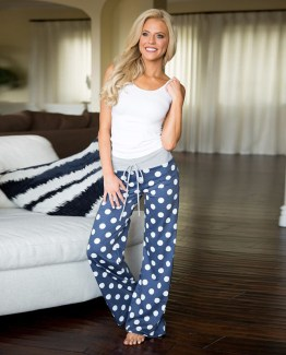 Boho Dot Checkerboard Pants