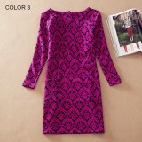 Ladies Long Sleeve Casual Autumn Color 8