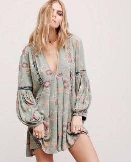 Boho Beach Mini Dress