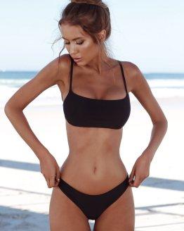 Solid Bikini Set Push-Up