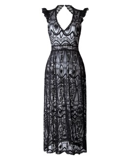 Party Long Dress Vintage Style Maxi Elegant