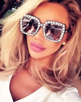 Retro Diamonds Sun Glasses