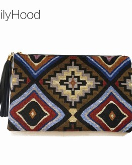 Boho Chic Hippie Aztec Clutch