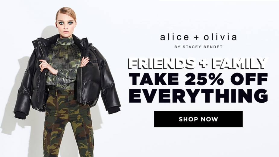 Alice + Olivia Friends and Family Sale: 25% Off Everything