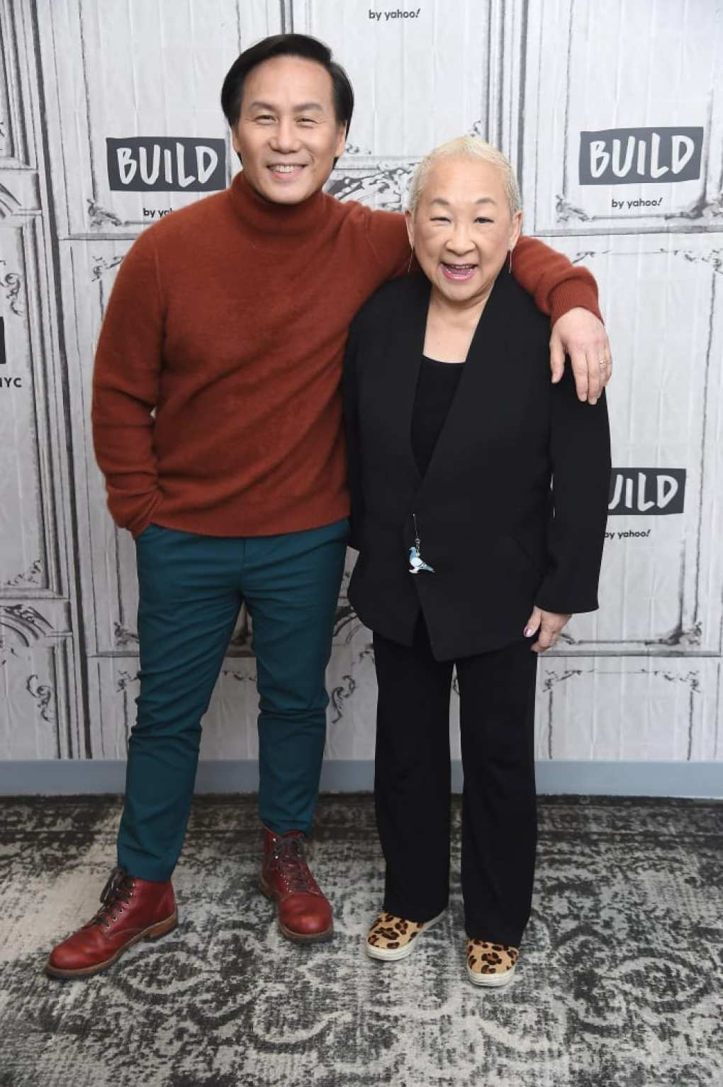 Co-stars Wong and Lori Tan Chinn, who also has some serious shoe game.