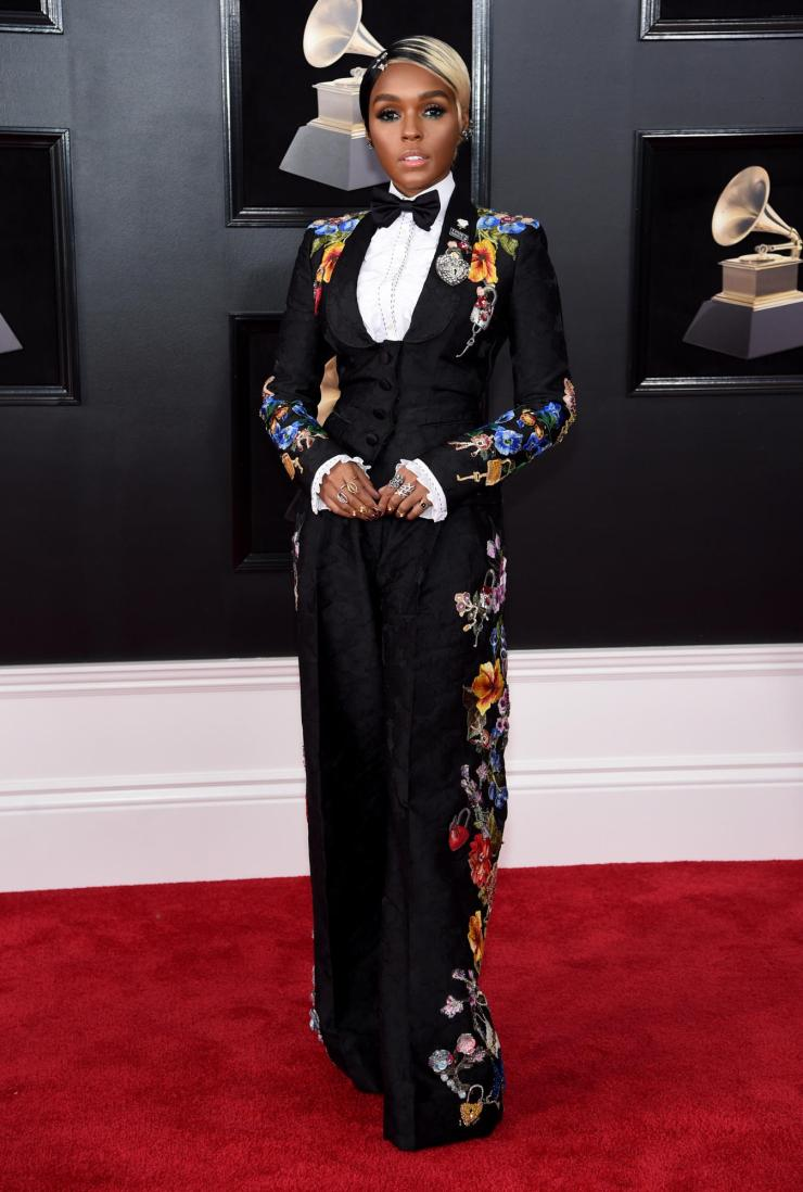 janelle monae gram - See All the Red-Carpet Looks From The 2018 Grammy Awards