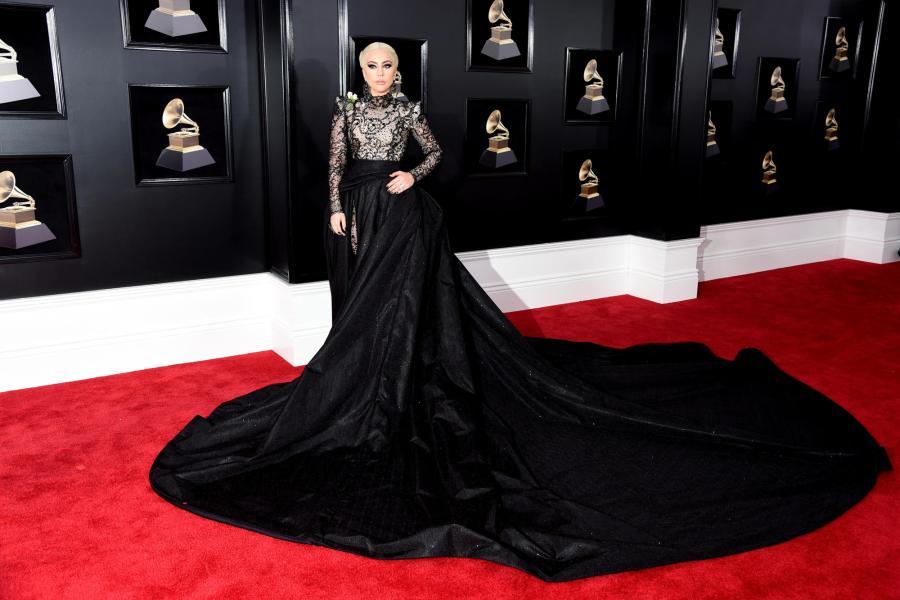 Lady Gaga in Armani Prive - Red Carpet Grammy Award 2018