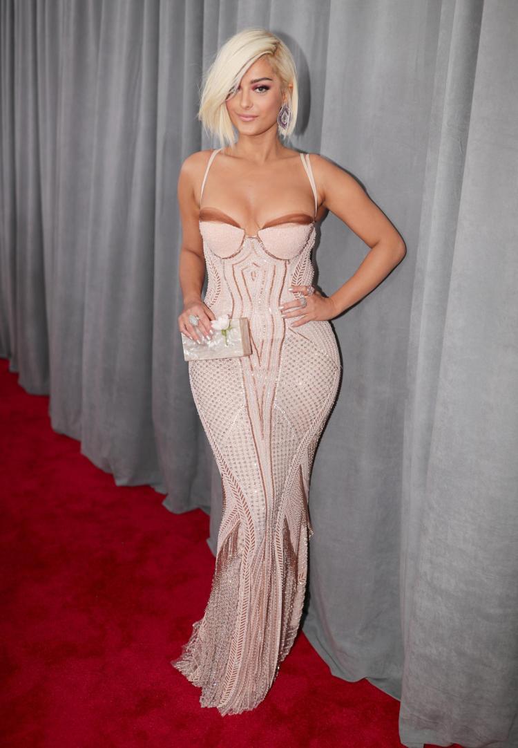 Bebe Rexha in La Perla Haute Couture - Red Carpet Grammy Award 2018