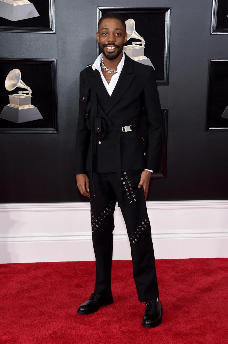brent-faiyaz-grammys See All the Red-Carpet Looks From The 2018 Grammy Awards