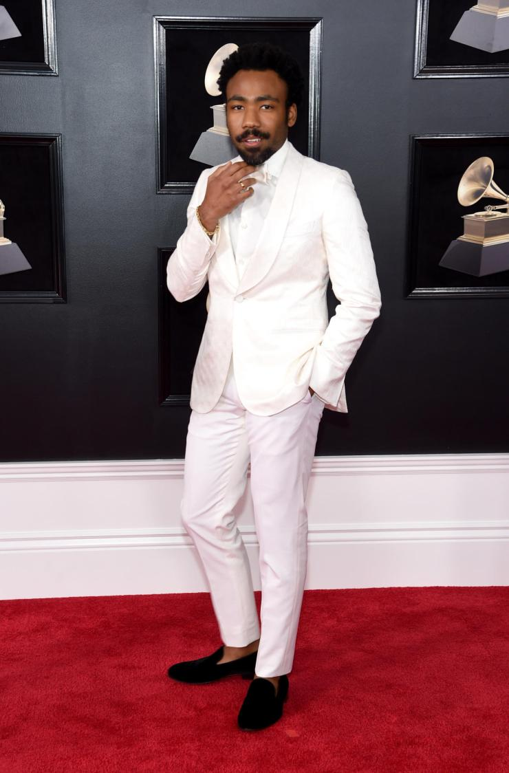 donald glover grammys - See All the Red-Carpet Looks From The 2018 Grammy Awards