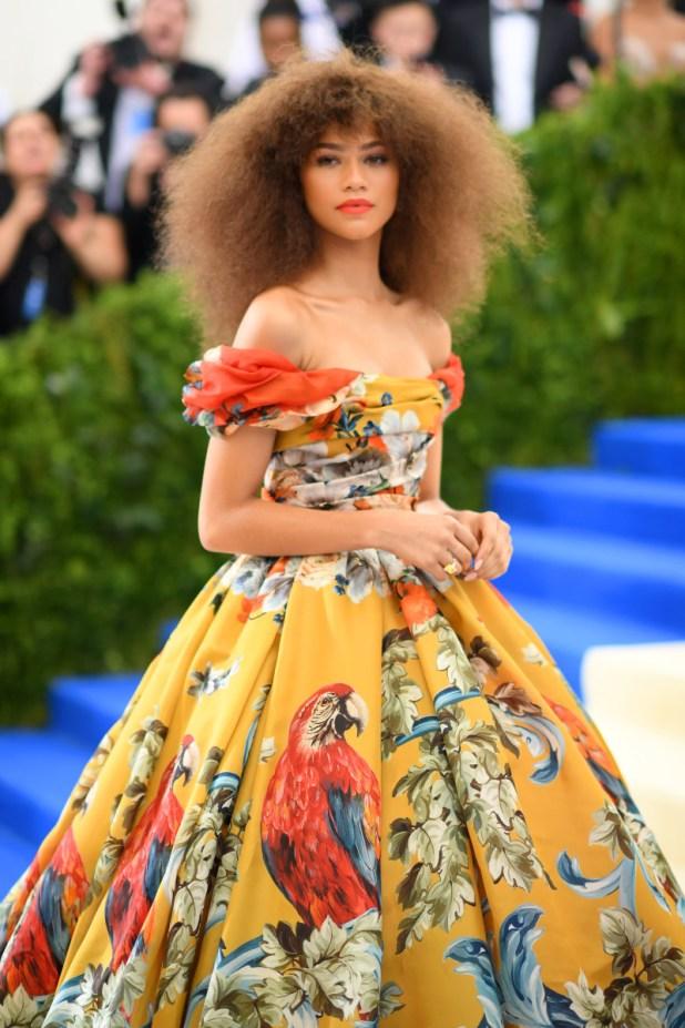 Zendaya at the 2017 Met Gala. Photo: Dimtrios Kambouris/Getty Images