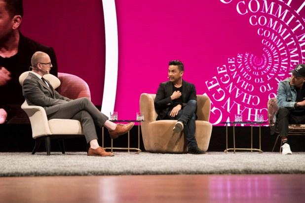 Simon Collins and Prabal Gurung. Photo: Copenhagen Fashion Summit