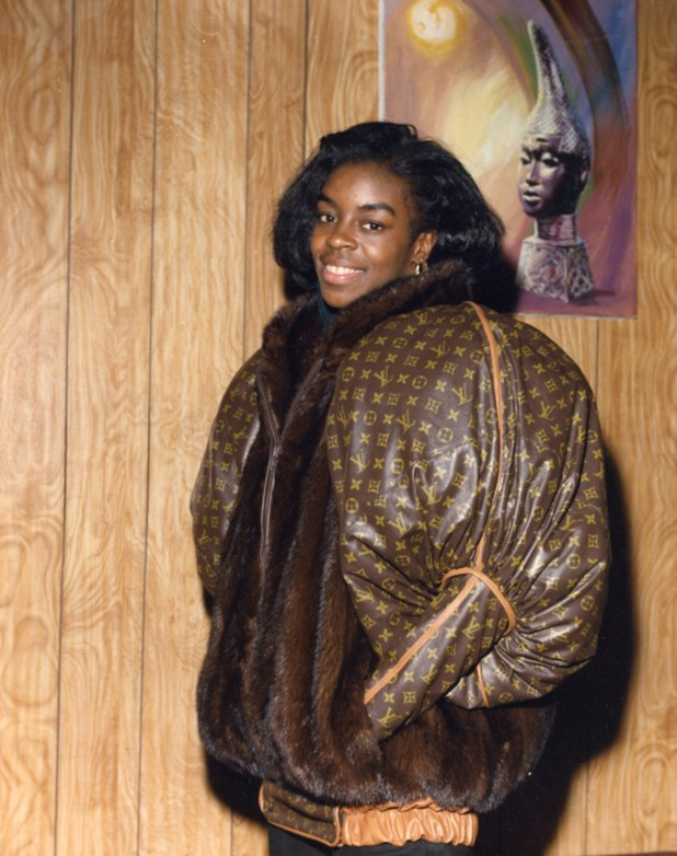 A Louis Vuitton and fur jacket by Dapper Dan for Olympian Diane Dixon from 1988. Photo: Courtesy