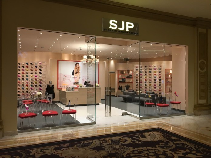 Outside the SJP store at the Bellagio Hotel. Photo: Courtesy