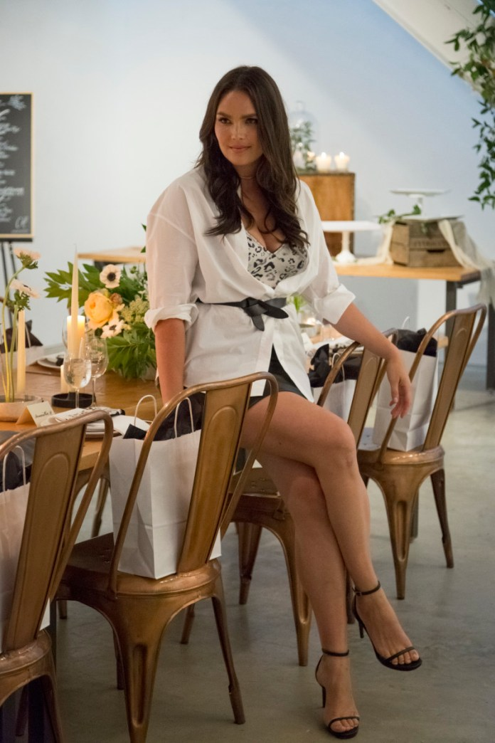 Candice Huffine at the launch of her collaboration with Fortnight. Photo: Courtesy