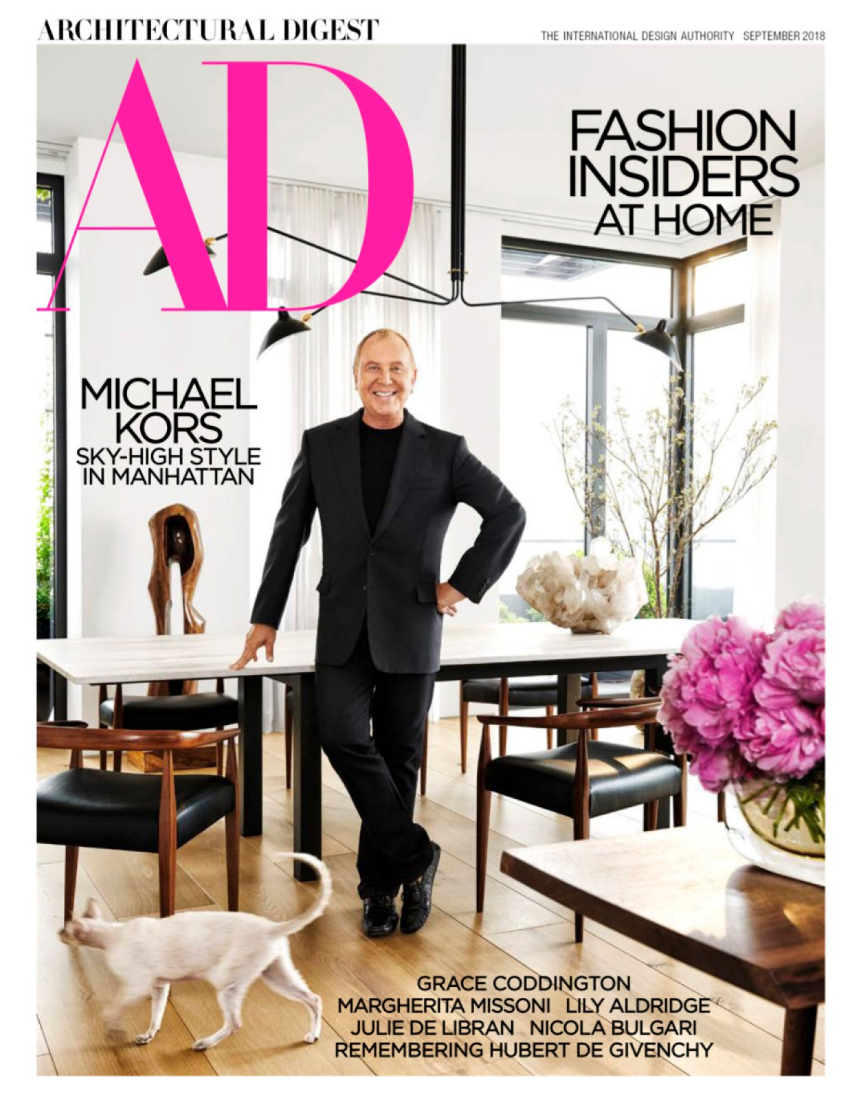 Michael Kors on the cover of the September 'Architectural Digest' issue. Photo: Architectural Digest
