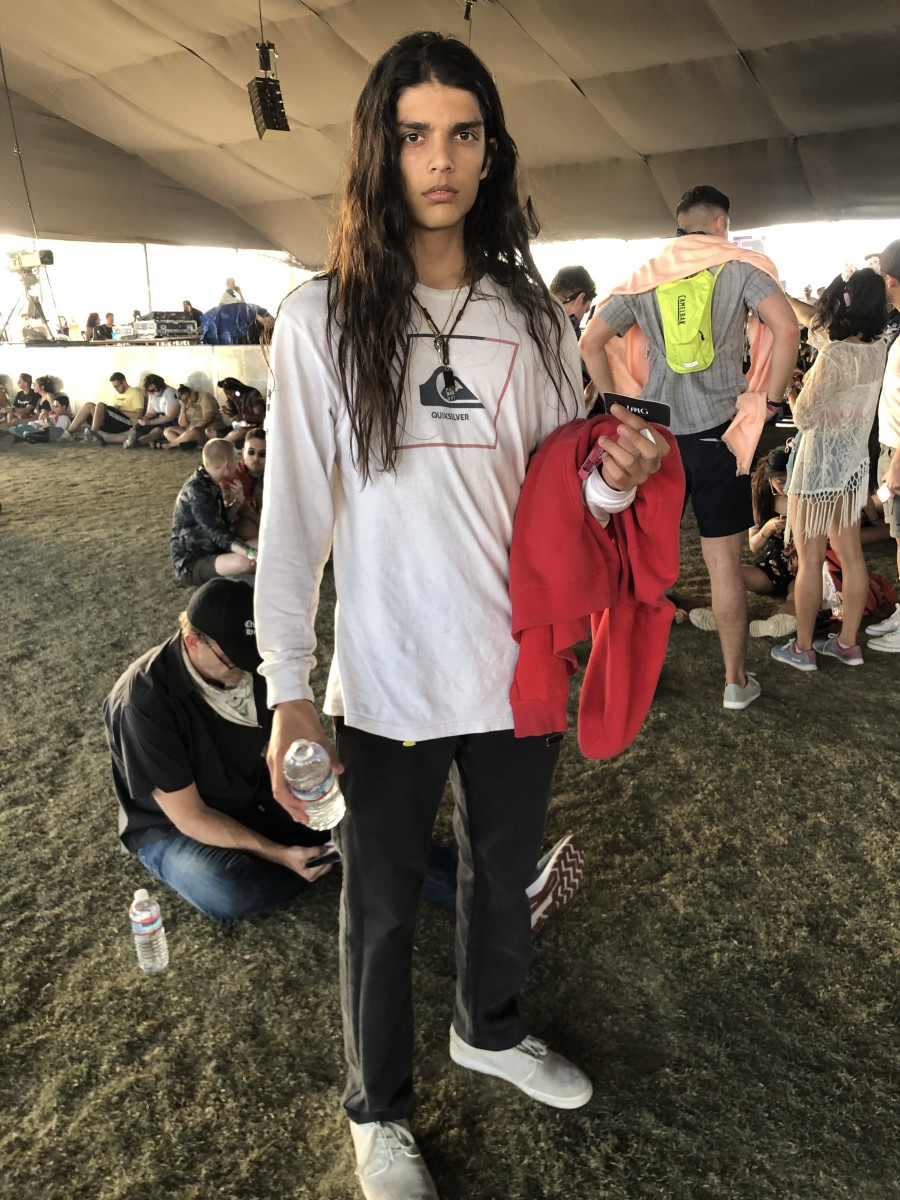 Turk at Coachella. Photo: JD Moran/Courtesy of IMG Models