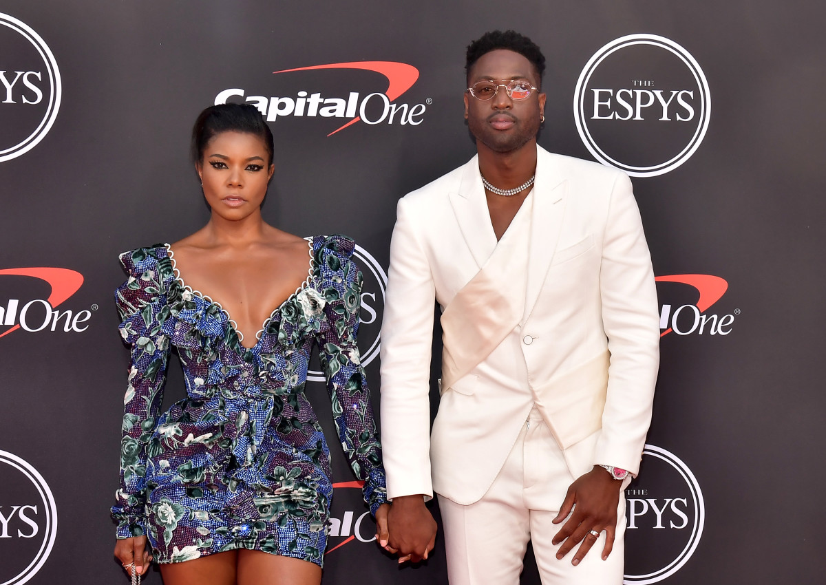 Gabrielle Union in Raisa & Vanessa and Dwyane Wade at the 2019 Espy Awards. Photo:Matt Winkelmeyer/Getty Images