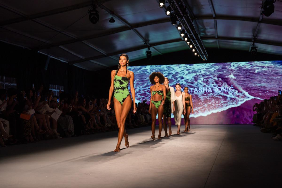 The runway finale for Natasha Tonic at Paraiso. Photo: Courtesy of Paraiso Miami Beach