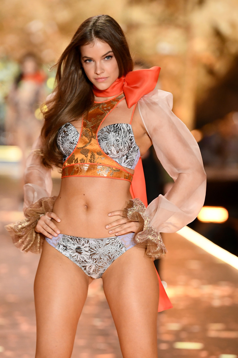 Barbara Palvin on the runway at the 2018 Victoria's Secret Fashion Show. Photo: Dimitrios Kambouris/Getty Images