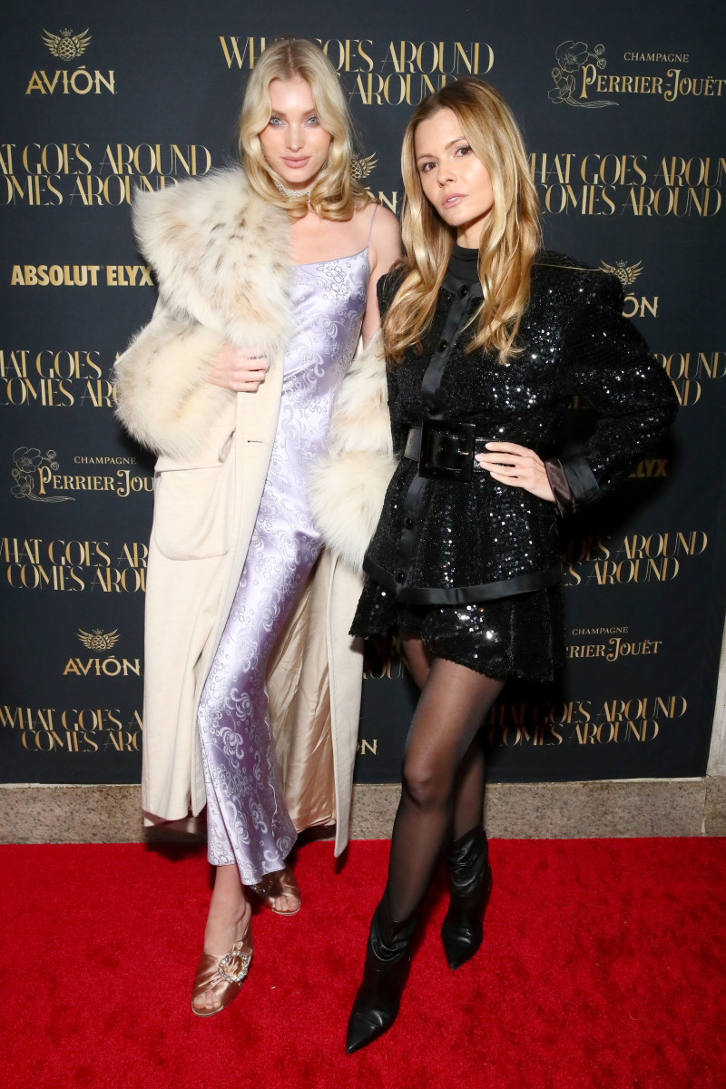 Victoria's Secret Angel Elsa Hosk and stylist Elizabeth Sulcer at the opening of the What Goes Around Comes Around Madison Avenue flagship. Photo: Astrid Stawiarz/Getty Images