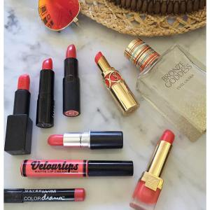 orange and coral lipsticks