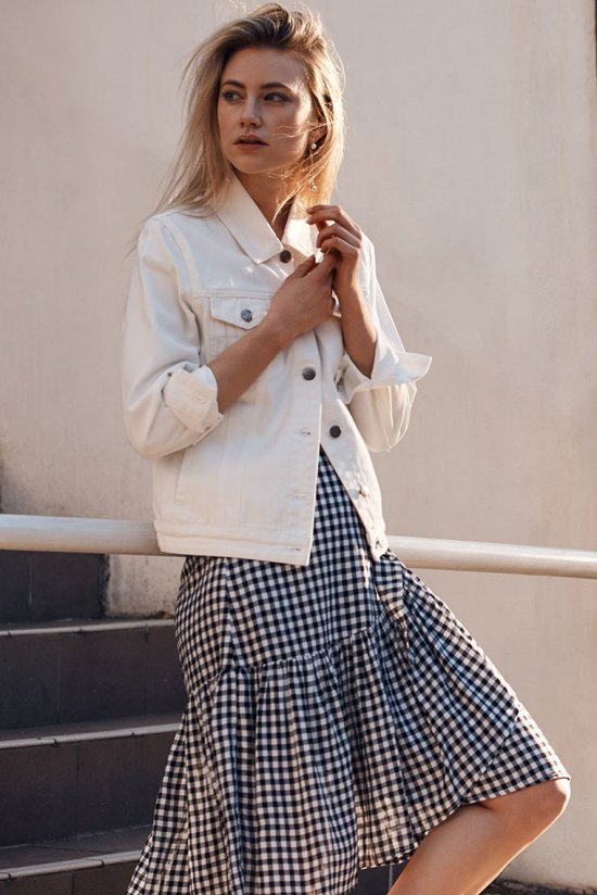 Bohemian Traders Gingham Tea Skirt