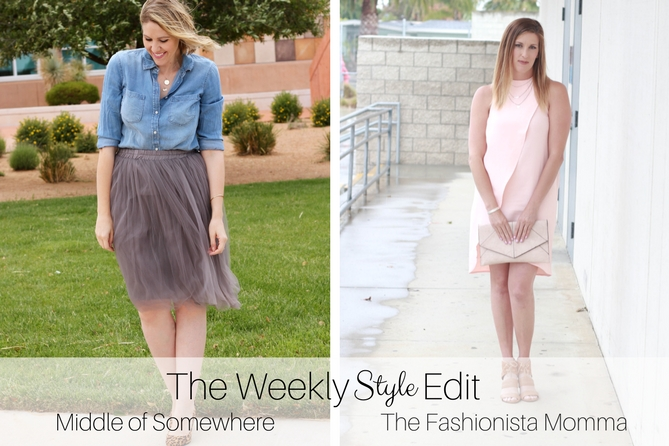 The Fashionista Momma and Middle of Somewhere share their looks for The Weekly Style Edit linkup.