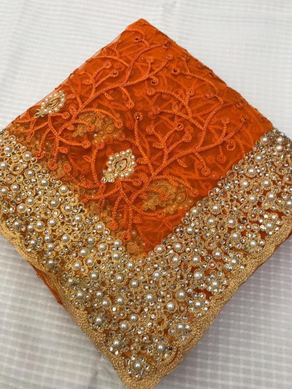Orange DF 3021 Glamarous Edition Saree