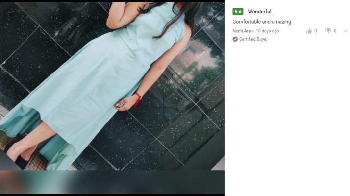 Women Drop Waist Pista Dress