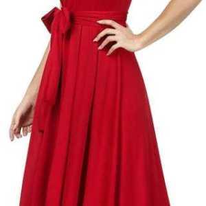 Women Drop Waist Red Dress