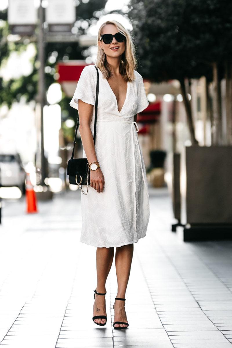 A FEMININE WHITE WRAP DRESS Fashion Jackson