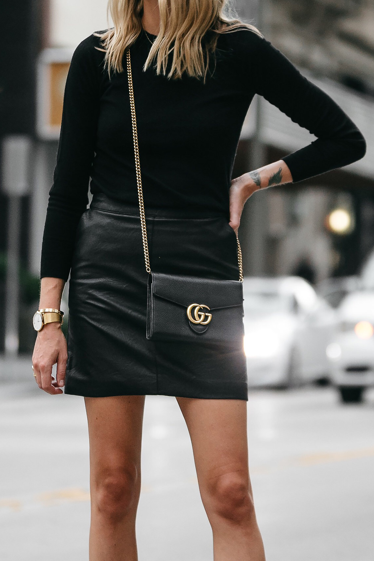 A STYLISH WAY TO WEAR A BLACK LEATHER MINI SKIRT   Fashion Jackson