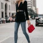 A Stylish Way To Wear A Black Velvet Blazer Fashion Jackson