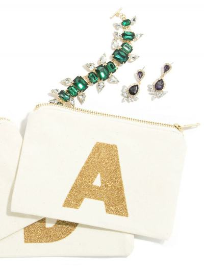 Pick Of The Day: Glitter Monogram Jewelry Pouch