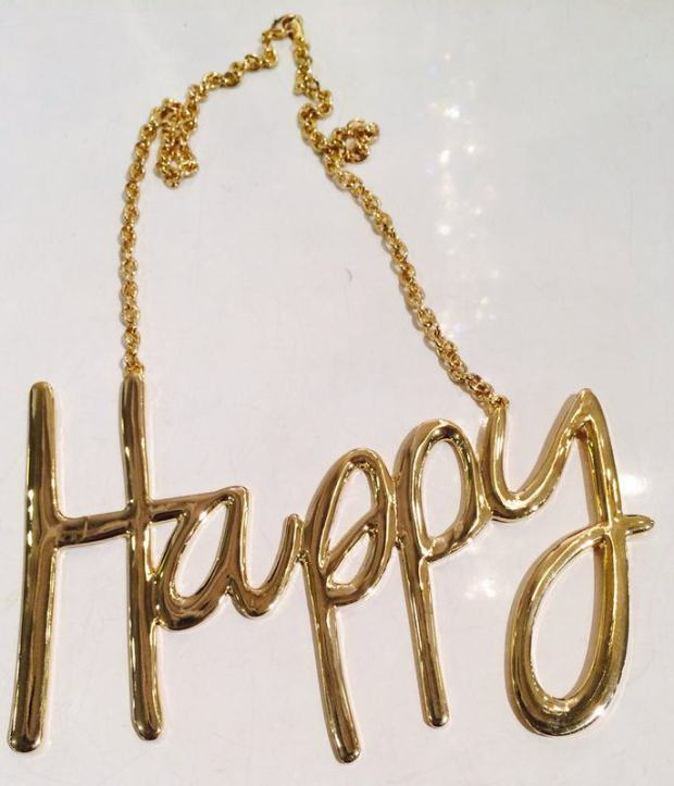 Pick Of The Day:  DIGS BIJOUX Happy Necklace
