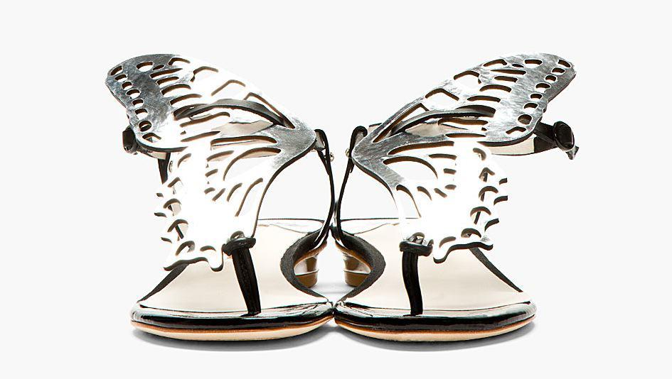 Silver Mariposa Butterfly Sandal