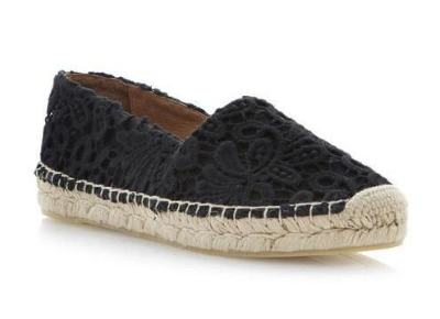 Currently Coveting: Dune Black Gayle Lace Espadrille