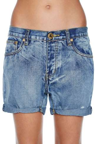 Slouchy Denim Shorts