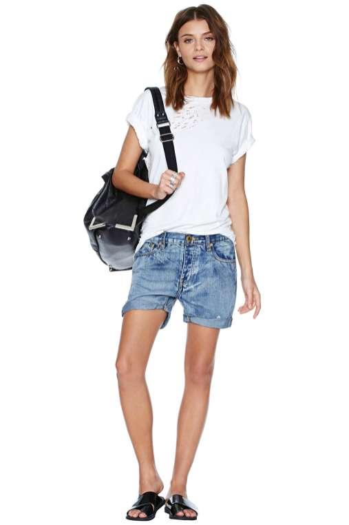 Slouchy Denim Shorts